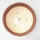 Ceramiczna miska bonsai 20,5 x 20,5 x 7,5 cm, kolor szaro-czarny - 3/3
