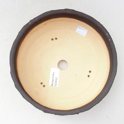 Ceramiczna miska bonsai 20 x 20 x 7,5 cm, kolor szaro-niebieski - 3