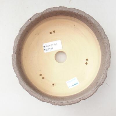 Ceramiczna miska bonsai 18 x 18 x 7 cm, kolor szaro-fioletowy - 3