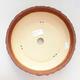 Ceramiczna miska bonsai 23,5 x 23,5 x 7 cm, kolor szaro-pomarańczowy - 3/3