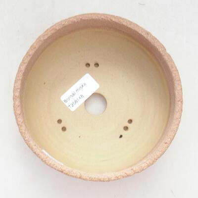 Ceramiczna miska bonsai 14,5 x 14,5 x 6,5 cm, kolor szaro-żółty - 3