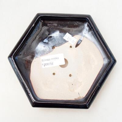 Ceramiczna miska bonsai 13,5 x 15 x 4 cm, kolor czarny - 3
