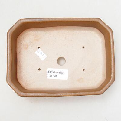 Ceramiczna miska bonsai 12 x 17 x 4,5 cm, kolor brązowy - 3