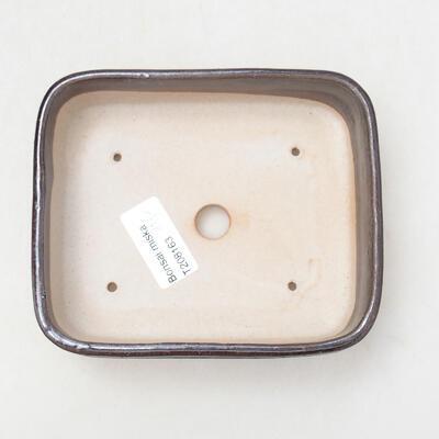 Ceramiczna miska bonsai 13 x 11 x 4,5 cm, kolor metalowy - 3