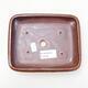 Ceramiczna miska bonsai 15 x 11,5 x 3,5 cm, kolor brązowo-czarny - 3/3