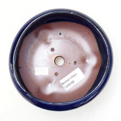 Ceramiczna miska bonsai 12,5 x 12,5 x 6,5 cm, kolor niebieski - 3