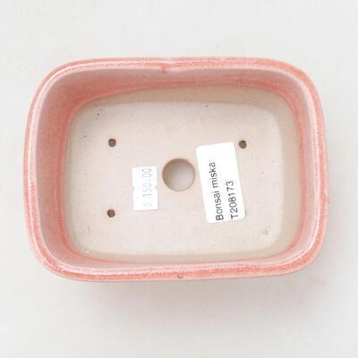 Ceramiczna miska bonsai 12 x 8,5 x 5,5 cm, kolor różowy - 3