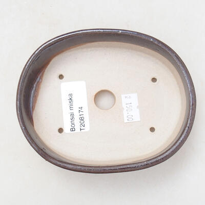 Ceramiczna miska bonsai 11,5 x 9 x 3,5 cm, kolor metalowy - 3