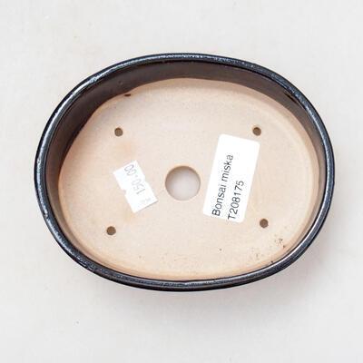 Ceramiczna miska bonsai 11,5 x 9,5 x 3,5 cm, kolor czarny - 3