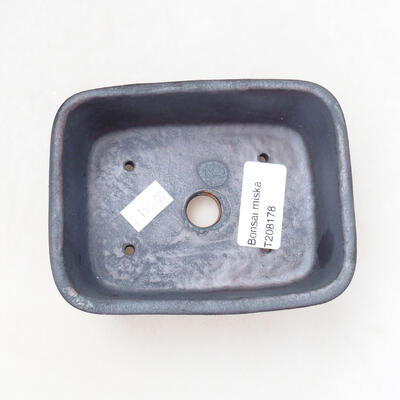 Ceramiczna miska bonsai 11 x 8 x 5 cm, kolor metalowy - 3