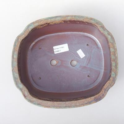 Ceramiczna miska bonsai 23 x 20 x 7 cm, kolor brązowo-zielony - 3