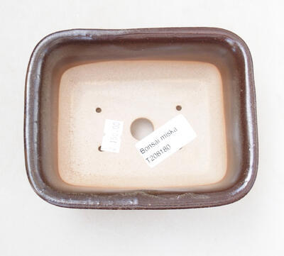 Ceramiczna miska bonsai 12 x 9 x 5,5 cm, kolor brązowy - 3