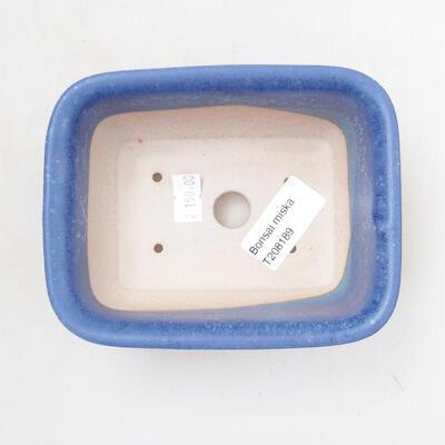 Ceramiczna miska bonsai 12 x 9 x 6 cm, kolor niebieski - 3
