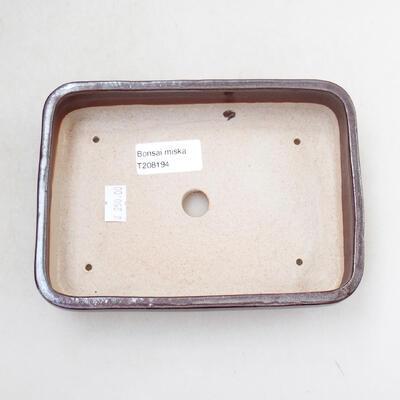 Ceramiczna miska bonsai 16,5 x 11,5 x 3,5 cm, kolor brązowy - 3