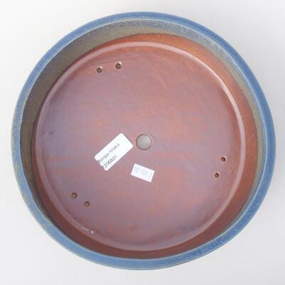 Ceramiczna miska bonsai 23 x 23 x 7 cm, kolor niebieski - 3