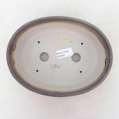 Miska Bonsai 22 x 16,5 x 6 cm, kolor szaro-beżowy - 3