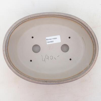 Miska Bonsai 22 x 17 x 7 cm, kolor szaro-beżowy - 3