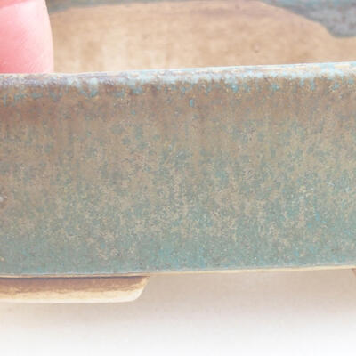 Ceramiczna miska bonsai 9,5 x 8 x 3,5 cm, kolor zielony - 3
