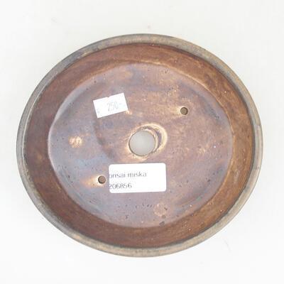 Ceramiczna miska bonsai 14 x 13 x 3,5 cm, kolor brązowy - 3