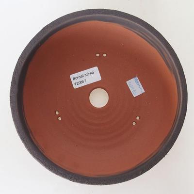 Ceramiczna miska bonsai 20,5 x 20,5 x 6 cm, kolor popękany - 3