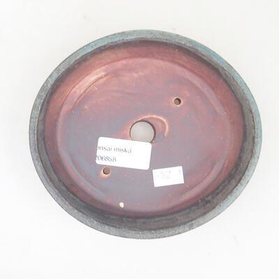 Ceramiczna miska bonsai 14 x 13 x 3,5 cm, kolor szary - 3
