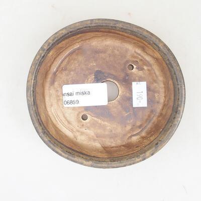 Ceramiczna miska bonsai 12 x 11 x 3 cm, kolor brązowy - 3