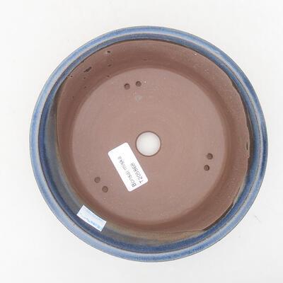 Ceramiczna miska bonsai 17 x 17 x 6 cm, kolor niebieski - 3
