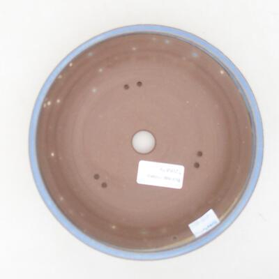 Ceramiczna miska bonsai 18 x 18 x 4,5 cm, kolor niebieski - 3