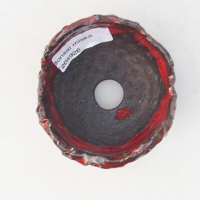 Ceramiczna skorupa 7 x 7 x 5 cm, kolor czerwony - 3