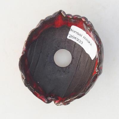 Ceramiczna skorupa 7 x 7 x 5,5 cm, kolor czerwony - 3