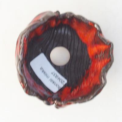 Ceramiczna skorupa 7 x 7 x 7 cm, kolor pomarańczowy - 3