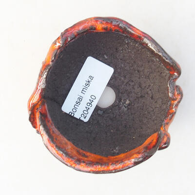 Ceramiczna skorupa 7 x 7 x 5 cm, kolor pomarańczowy - 3