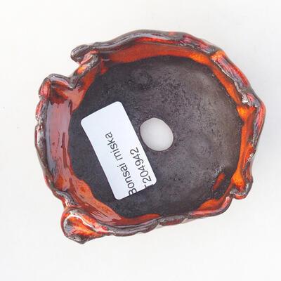 Ceramiczna skorupa 7 x 7 x 4,5 cm, kolor pomarańczowy - 3