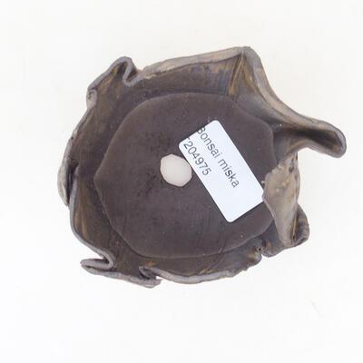Ceramiczna skorupa 7 x 7 x 5 cm, kolor brązowy - 3