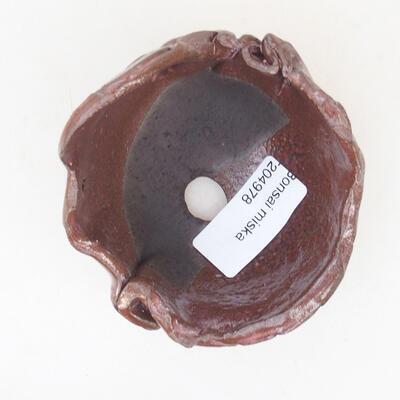 Ceramiczna skorupa 7 x 7 x 6 cm, kolor brązowy - 3