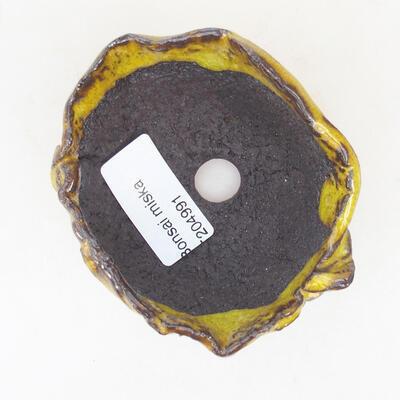 Ceramiczna skorupa 8 x 6 x 4,5 cm, kolor żółty - 3