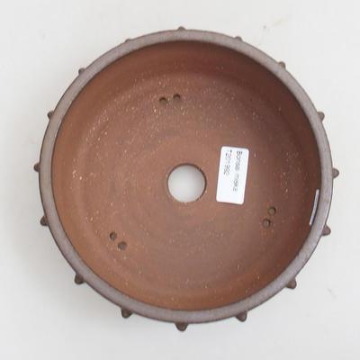 Ceramiczna miska bonsai 18 x 18 x 6 cm, kolor brązowy - 3