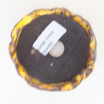 Ceramiczna skorupa 7 x 7 x 5 cm, kolor żółty - 3