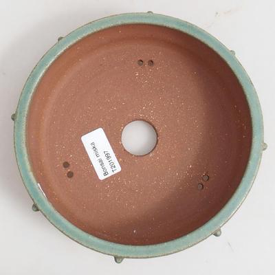 Ceramiczna miska bonsai 17 x 17 x 5,5 cm, kolor brązowy - 3