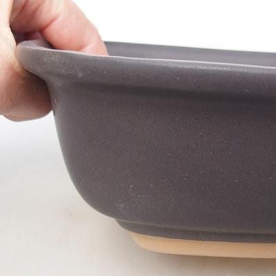 Miska Bonsai, taca H 08 - miska 24,5 x 18 x 7 cm, taca 23 x 16 x 1,5 cm - 3