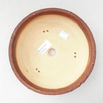 Ceramiczna miska bonsai 20,5 x 20,5 x 7 cm, kolor szaro-niebieski - 3