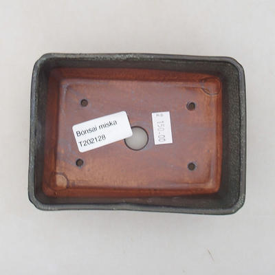 Ceramiczna miska bonsai 13 x 9 x 4,5 cm, kolor szary - 3