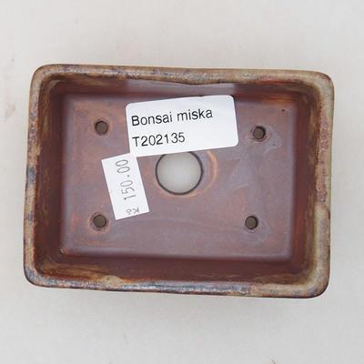 Ceramiczna miska bonsai 9 x 7 x 4 cm, kolor brązowy - 3