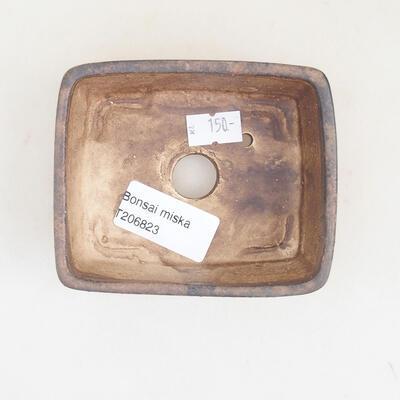 Ceramiczna miska bonsai 9,5 x 8 x 3,5 cm, kolor brązowy - 3