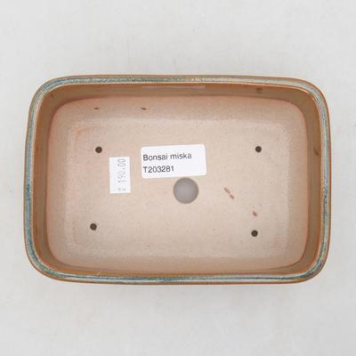 Ceramiczna miska bonsai 16 x 10 x 5,5 cm, kolor szaro-rdzawy - 3