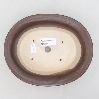Ceramiczna miska bonsai 19 x 16 x 6,5 cm, kolor niebieski - 3