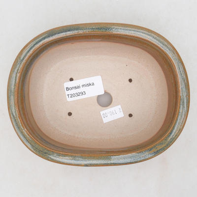 Ceramiczna miska bonsai 15,5 x 13 x 5,5 cm, kolor szaro-rdzawy - 3