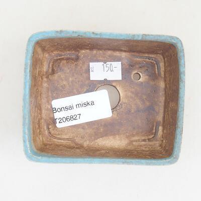 Ceramiczna miska bonsai 9,5 x 8 x 3,5 cm, kolor niebieski - 3