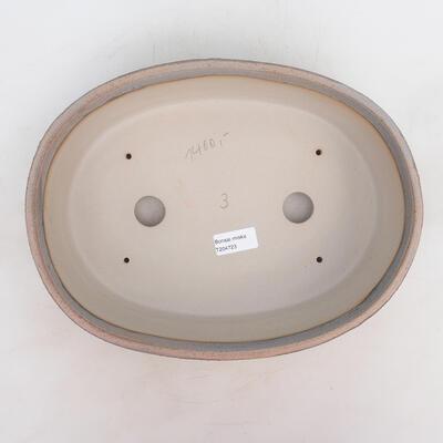 Miska Bonsai 32 x 24 x 8,5 cm, kolor szaro-beżowy - 3