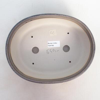 Miska Bonsai 25 x 19,5 x 7,5 cm, kolor szaro-beżowy - 3